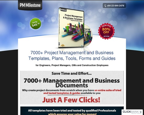 PMMilestone 2.0 Pro by PMMilestone.com :: 9000+ Project Management and Business Templates