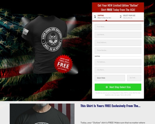 """FREE T-Shirt For 2nd Amendment Supporters! """"When Guns Are Outlawed, I'll Be An Outlaw"""""""